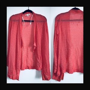 Demanding by Say What? color coral Cardigan Sz S